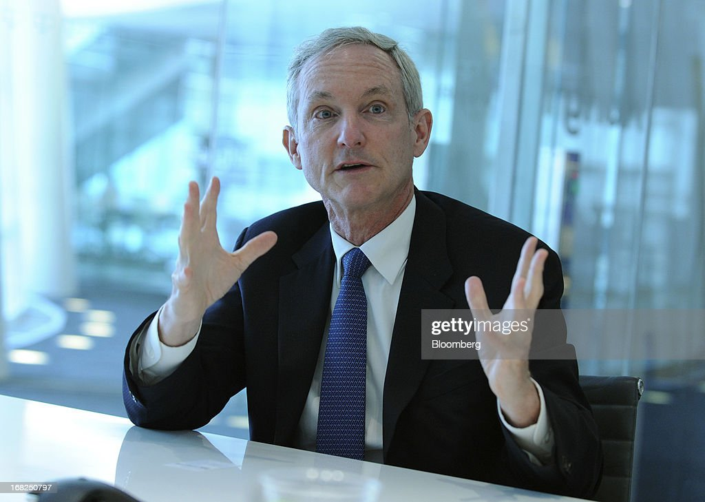 Tom Leighton, chief executive officer of Akami Technologies Inc., speaks during an interview in New York, U.S., on Tuesday, May 7, 2013. Akamai Technologies Inc., which helps customers deliver online content faster, reported first-quarter earnings in April that jumped 18 percent and topped analysts' estimates as Internet traffic increased more than expected. Photographer: Peter Foley/Bloomberg via Getty Images