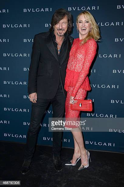 Tom Lemke and Lilly zu SaynWittgensteinBerleburg attend the 130 years of glam culture party by Bulgari at Kaufhaus Jandorf on February 11 2014 in...
