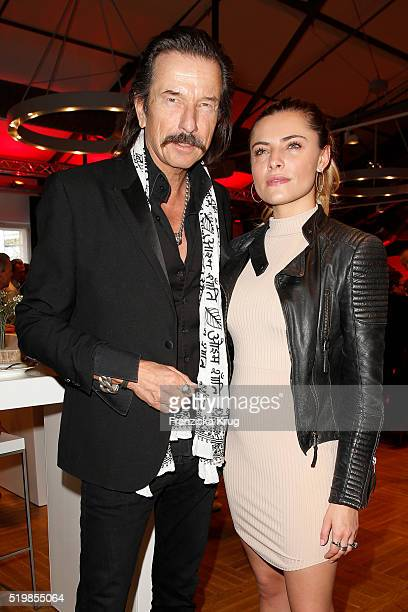 Tom Lemke and Sophia Thomalla attend the Theodor Koenig Award on April 08 2016 in Berlin Germany