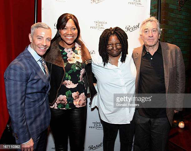 Tom Leonardis Grace Hightower Whoopi Goldberg and Robert De Niro attend HBO's 'Moms Mabley I Got Somethin' To Tell You' premiere at Tribeca Film...
