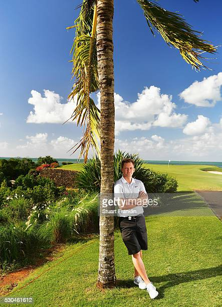 Tom Lewis of Engand poses for a picture prior to the start of AfrAsia Bank Mauritius Open at Four Seasons Golf Club Mauritius at Anahita on May 11...