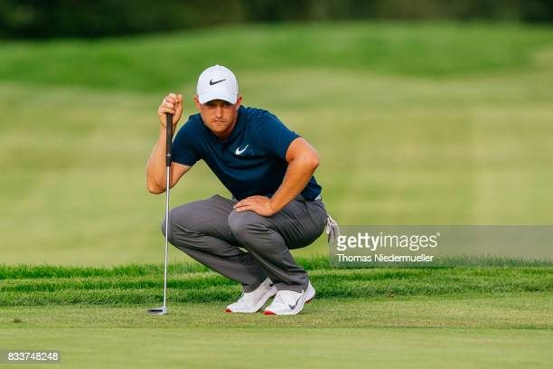Tom Lewis of England is seen during day one of the Saltire Energy Paul Lawrie Matchplay at Golf Resort Bad Griesbach on August 17 2017 in Passau...