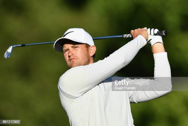 Tom Lewis of England plays a shot during day one of the Nordea Masters at Barseback Golf Country Club on June 1 2017 in Barsebackshamn Sweden