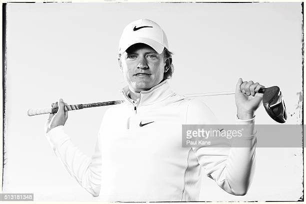 Tom Lewis of England poses ahead of the 2016 Perth International at Lake Karrinyup Country Club on February 24 2016 in Perth Australia