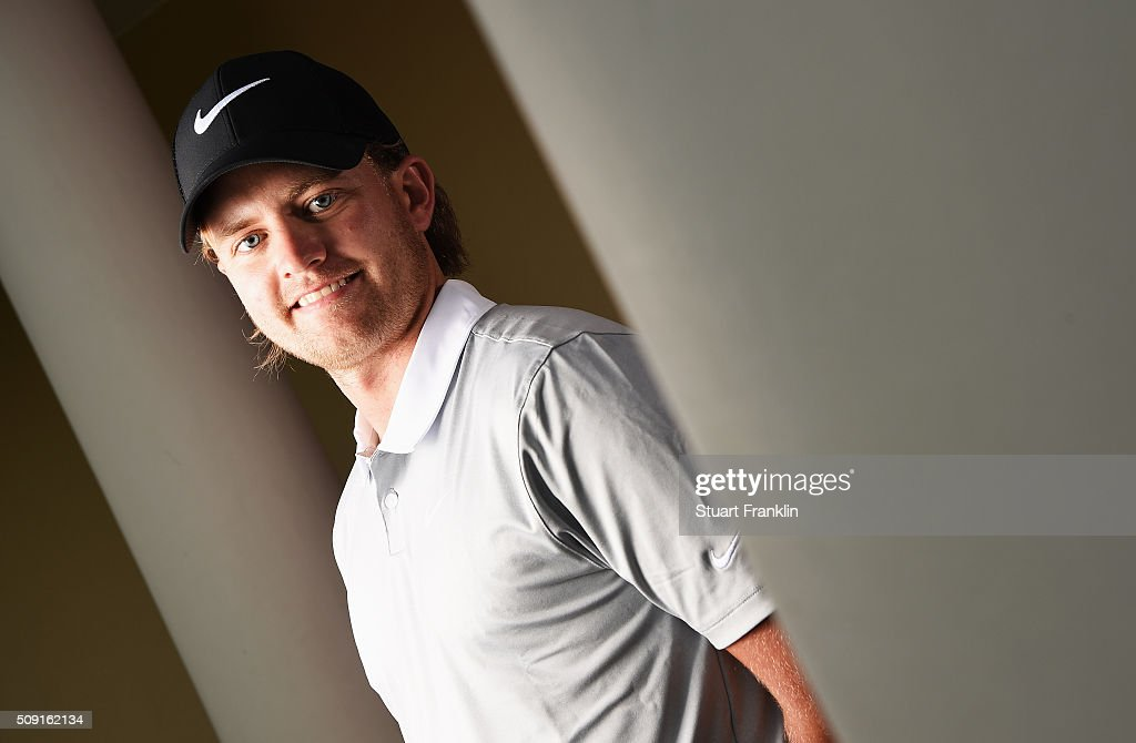 Tom Lewis of England poses for a picture prior to the start of the Tshwane Open at Pretoria Country Club on February 09, 2016 in Pretoria, South Africa.