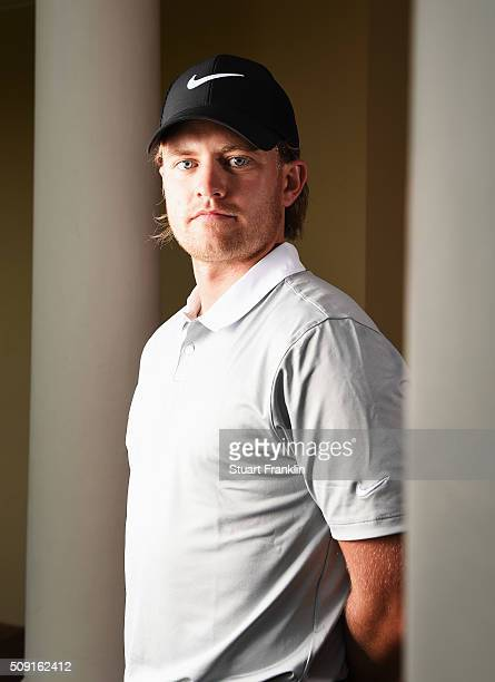 Tom Lewis of England poses for a picture prior to the start of the Tshwane Open at Pretoria Country Club on February 09 2016 in Pretoria South Africa