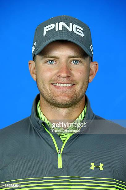 Tom Lewis of England poses for a portrait during a practice day for the BMW PGA Championships at Wentworth on May 19 2015 in Virginia Water England