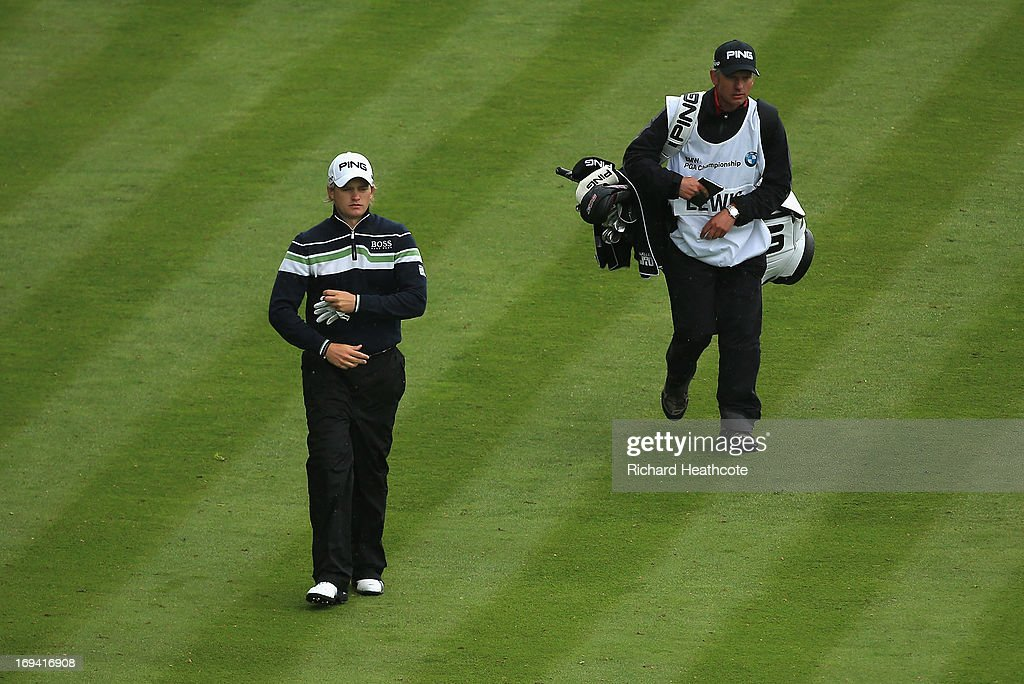 Tom Lewis of England walks to the 18th green during the second round of the BMW PGA Championship on the West Course at Wentworth on May 24, 2013 in Virginia Water, England.