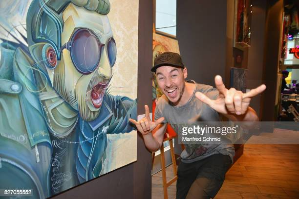 Tom Lohner poses during the 3rd birthday party of the Hard Rock Cafe Vienna on August 6 2017 in Vienna