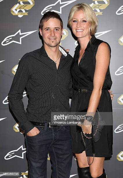 Tom Luthi and girlfriend attend the Alpinestars 50th Anniversary Event at Progetto Calabiana on September 8 2013 in Milan Italy