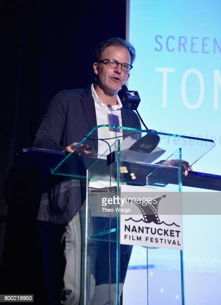 Tom McCarthy accepts an award onstage at the Screenwriters Tribute during the 2017 Nantucket Film Festival Day 3 on June 23 2017 in Nantucket...