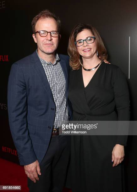 Tom McCarthy and Producer Mandy Teefey attend the Netflix's '13 Reasons Why' FYC Event at Netflix FYSee Space on June 2 2017 in Beverly Hills...
