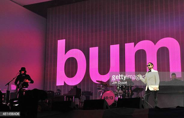 Tom Meighan and Serge Pizzorno of Kasabian perform on the Pyramid stage during day three of the Glastonbury Festival at Worthy Farm in Pilton on June...