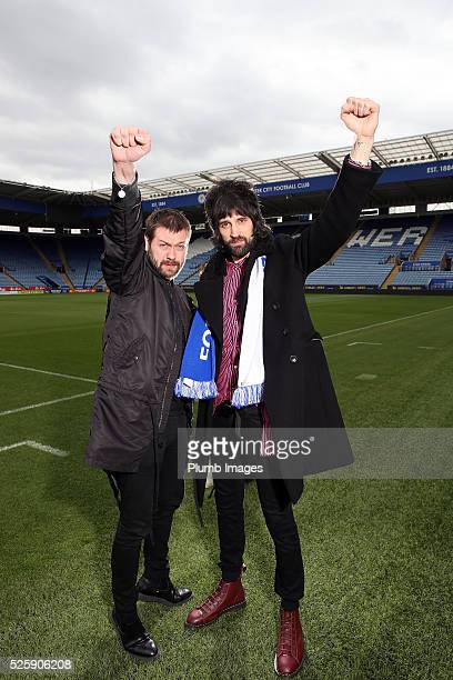 Tom Meighan and Serge Pizzorno of Kasabian pictured as the band announce a summer concert at The King Power Stadium the home of Leicester City on...