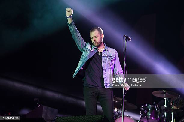 Tom Meighan from Kasabian performs during day 1 of Rock En Seine Festival at Domaine National de SaintCloud on August 28 2015 in Paris France