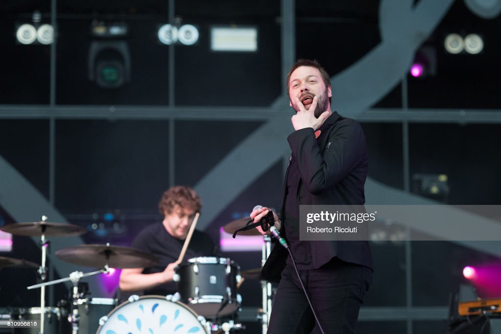 Tom Meighan of English rock band Kasabian performs on stage during TRNSMT Festival Day 2 at Glasgow Green on July 8, 2017 in Glasgow, Scotland.