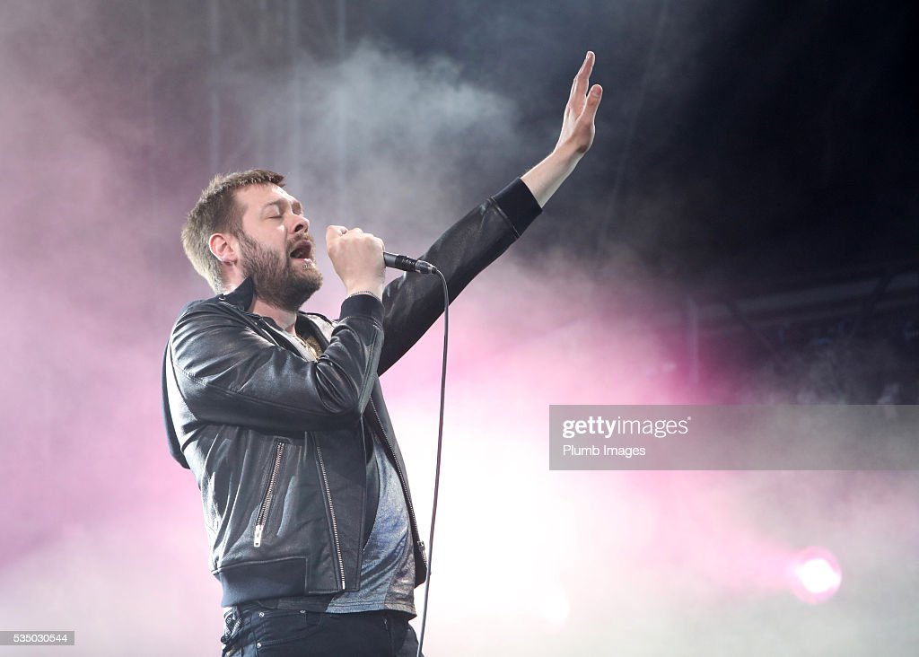 Tom Meighan of Kasabian performs at King Power Stadium on May 28th 2016 in Leicester United Kingdom