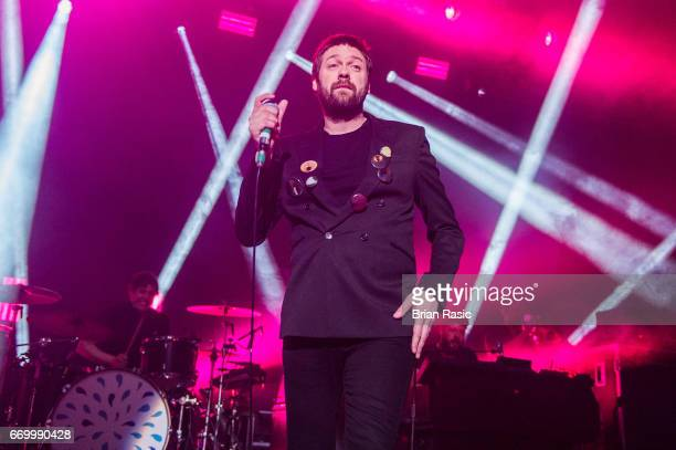 Tom Meighan of Kasabian performs at The Forum on April 18 2017 in London United Kingdom