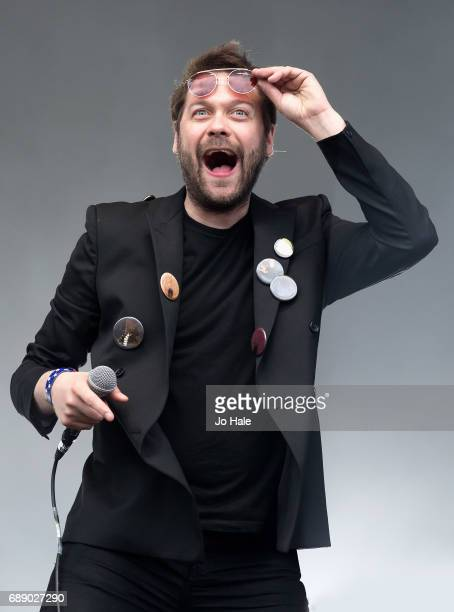 Tom Meighan of Kasabian performs on Stage at Day 1 of BBC Radio 1's Big Weekend 2017 at Burton Constable Hall on May 27 2017 in Hull United Kingdom