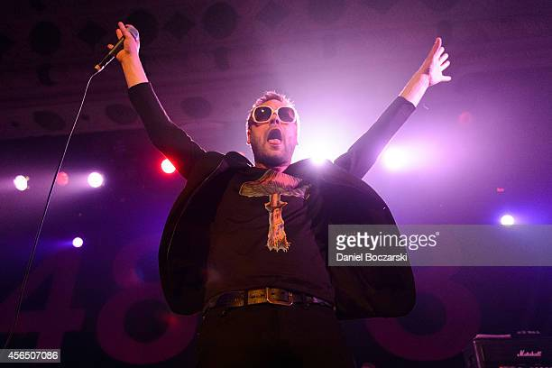 Tom Meighan of Kasabian performs on stage at Metro on October 1 2014 in Chicago United States