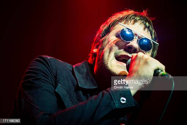 Tom Meighan of Kasabian performs on stage at Paradiso on June 21 2013 in Amsterdam Netherlands