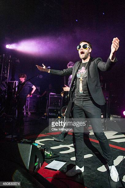 Tom Meighan of Kasabian performs on stage in aid of War Child during the Week their album 4813 charted in the UK at no1 at Shepherds Bush Empire on...
