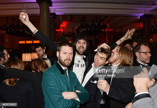 Tom Meighan Sergio Pizzorno James Righton and Chris Edwards attend The Weinstein Company Entertainment Film Distributor StudioCanal 2015 BAFTA After...
