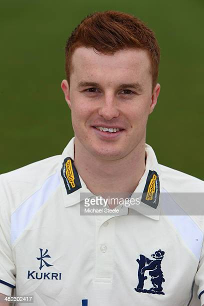 Tom Milnes of Warwickshire poses in the LV County kit during the Warwickshire CCC photocall at Edgbaston on April 3 2014 in Birmingham England