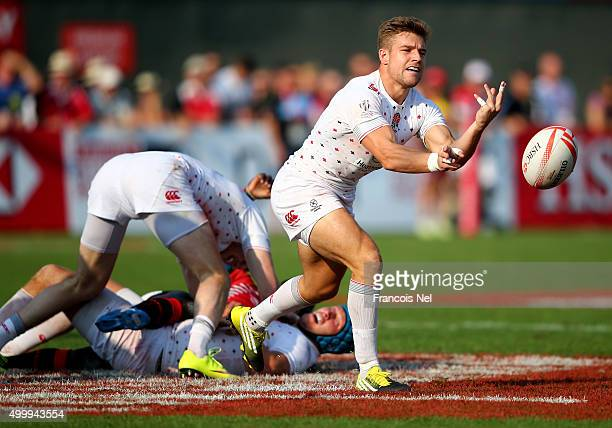 Tom Mitchell of England in action against Kenya during the Emirates Dubai Rugby Sevens HSBC World Rugby Sevens Series on December 4 2015 in Dubai...