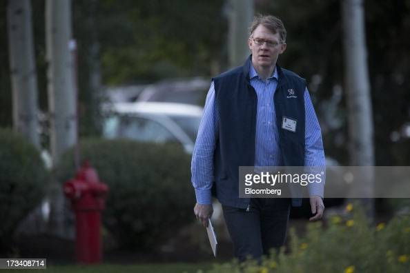 Tom Monahan chairman and chief executive officer of the Corporate Executive Board Co walks to a morning session at the Allen Co Media and Technology...