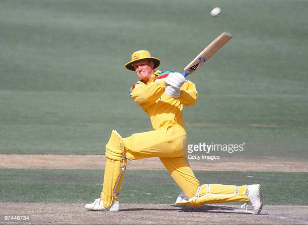 Tom Moody of Australia bats during a One Day International match on March 4 1992 in Australia