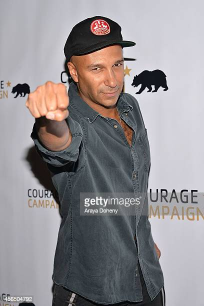 Tom Morello attends the 2014 Spirit of Courage Awards at the House of Blues Sunset Strip on October 1 2014 in West Hollywood California