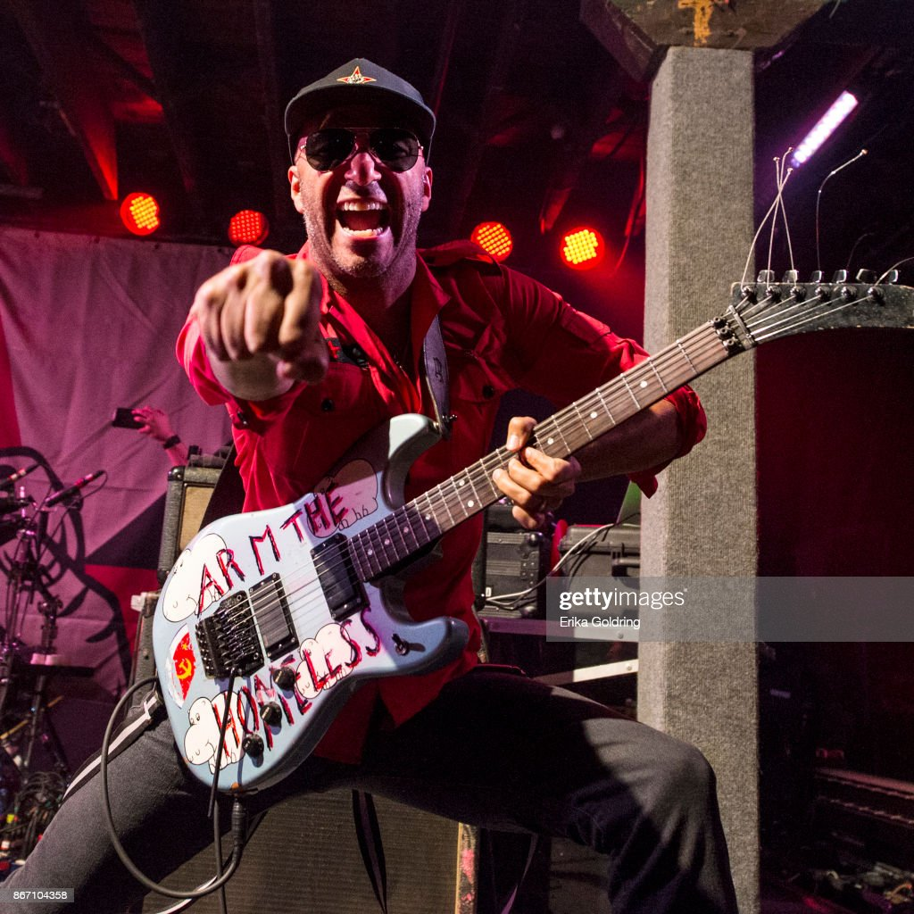 Tom Morello of Prophets of Rage performs at Tipitina's on October 26, 2017 in New Orleans, Louisiana.