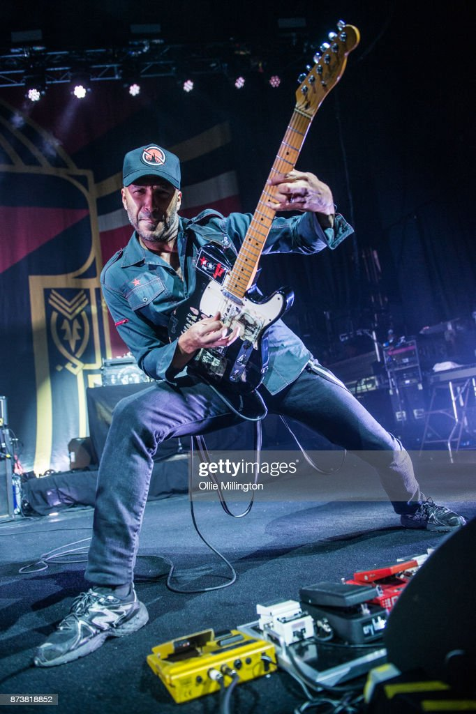 Tom Morello of Public Enemy performs as part of Prophets of Rage live on stage at the O2 Forum Kentish Town on November 13, 2017 in London, England.