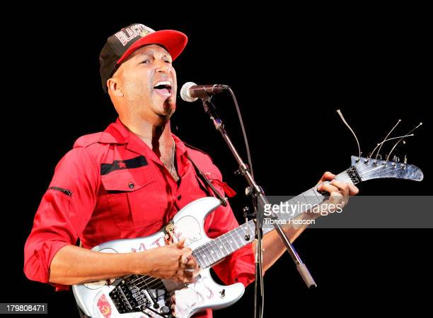 Tom Morello performs at the 'Rock Out' at Ford Theatre on September 6 2013 in Hollywood California