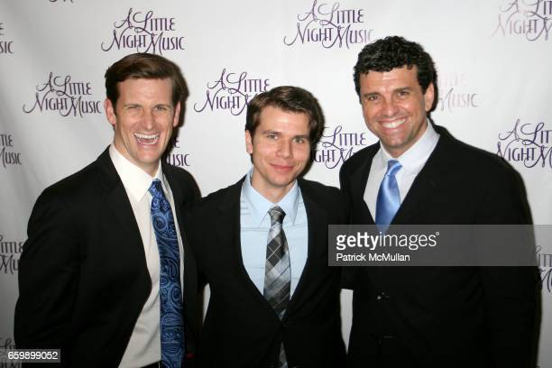 Tom Murray David Farley and Guest attend Opening of 'A Little Night of Music' at Walter Kerr Theater Tavern On The Green on December 13 2009 in New...