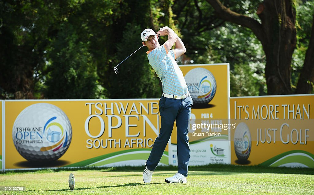 Tom Murray of England plays a shot during the final round of the Tshwane Open at Pretoria Country Club on February 14, 2016 in Pretoria, South Africa.