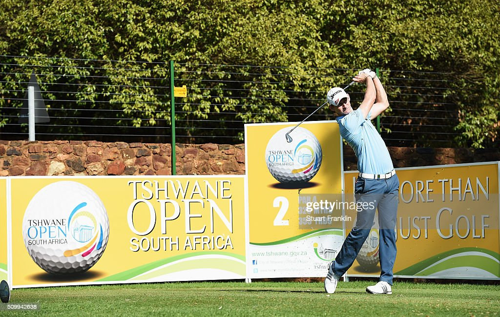 Tom Murray of England plays a shot during the third round of the Tshwane Open at Pretoria Country Club on February 13, 2016 in Pretoria, South Africa.