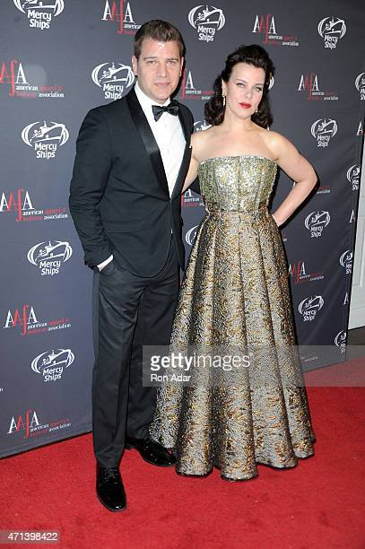 Tom Murro and actress Debbi Mazar attend the AAFA American Image Awards at 583 Park Avenue on April 27 2015 in New York City