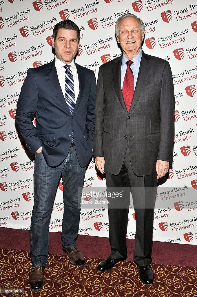 Tom Murro and Alan Alda attend the 2013 Stars Of Stony Brook Gala at Pier 60 on April 24, 2013 in New York City.