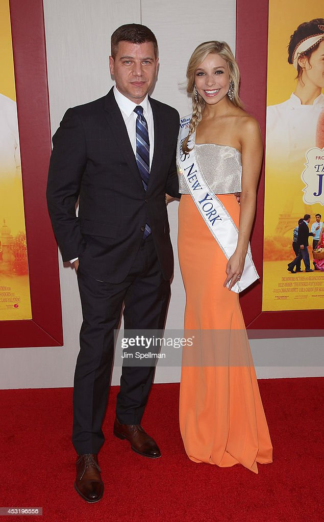 Tom Murro and Kandice Pelletier attend the 'The Hundred-Foot Journey' New York Premiere at Ziegfeld Theater on August 4, 2014 in New York City.