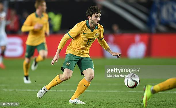 Tom Oar of Australie controls the ball during the International Friendly match between Germany and Australia at FritzWalterStadion on March 25 2015...