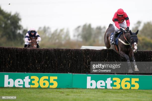Tom O'Brien riding Officer Hoolihan clear the last to win The Weatherbys General Stud Book Online Steeple Chase at Huntingdon racecourse on October...
