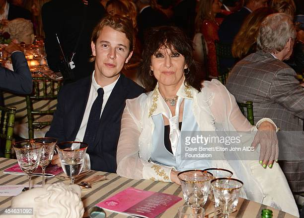 APPLIES Tom Odell and Chrissie Hynde attend the Woodside End of Summer party to benefit the Elton John AIDS Foundation sponsored by Chopard and Grey...