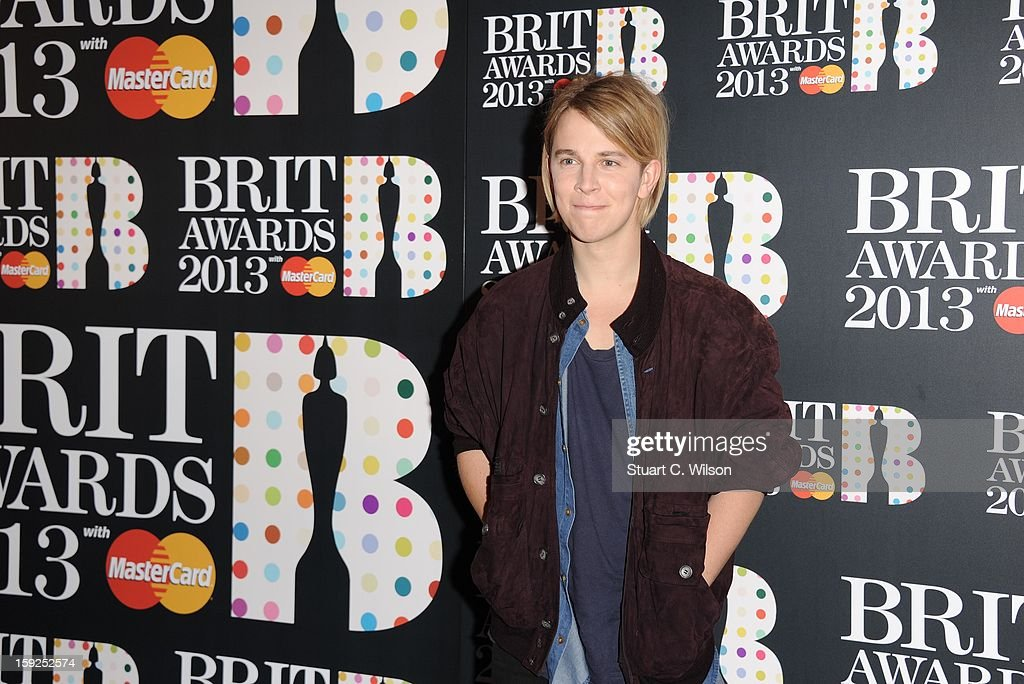 Tom Odell attends as the nominations for the BRIT Awards are announced at The Savoy Hotel on January 10, 2013 in London, England.