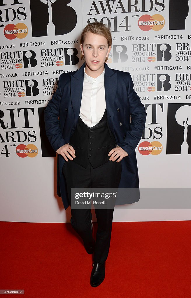 Tom Odell attends The BRIT Awards 2014 at the 02 Arena on February 19 2014 in London England