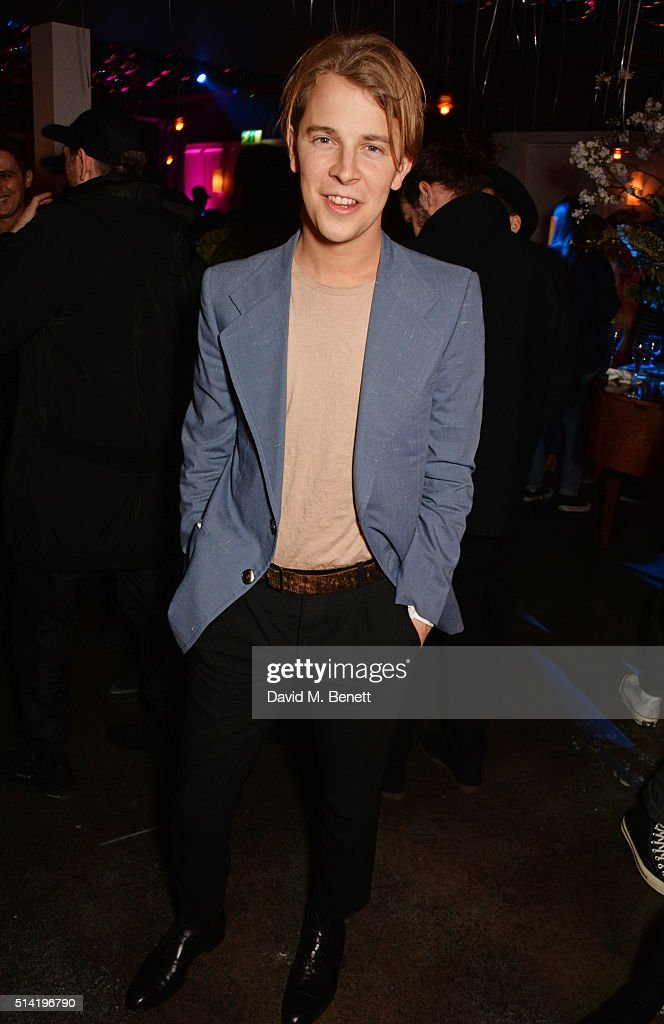 Tom Odell attends the ES Magazine 'Young London' party with Converse at Bistrotheque on March 7 2016 in London England