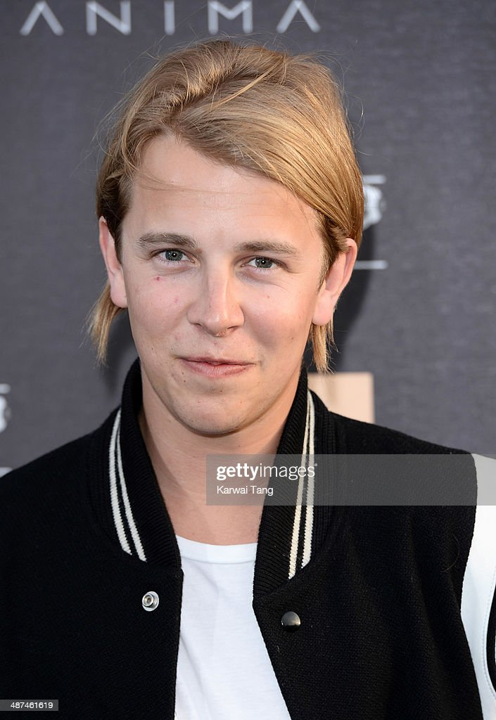 Tom Odell attends the inaugural Battersea Power Station annual party held at Battersea Power station on April 30 2014 in London England