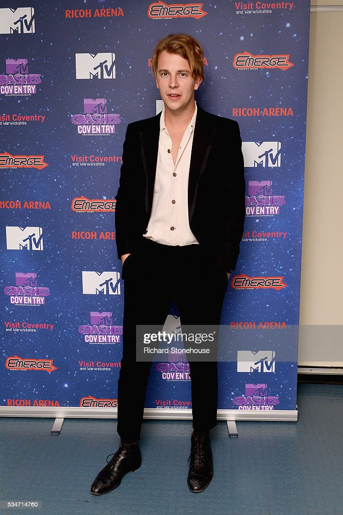 <a gi-track='captionPersonalityLinkClicked' href=/galleries/search?phrase=Tom+Odell&family=editorial&specificpeople=9163633 ng-click='$event.stopPropagation()'>Tom Odell</a> backstage during 'MTV Crashes Coventry' at Ricoh Arena on May 27, 2016 in Coventry, England.