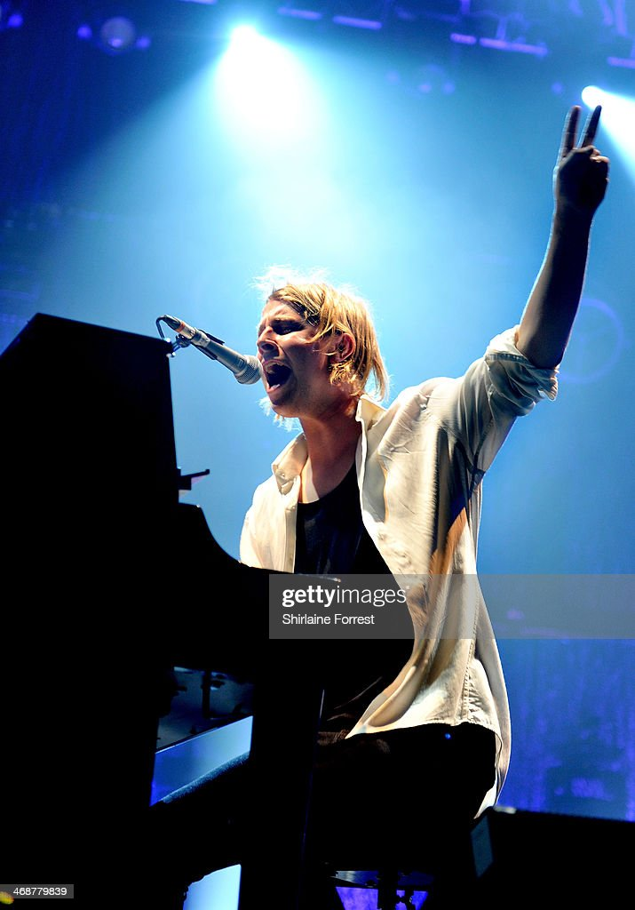 Tom Odell performs at Manchester Apollo on February 11 2014 in Manchester England